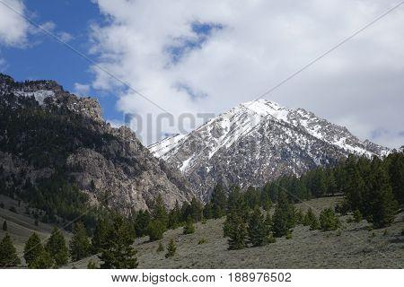 Lost River Mountains at trailhead to begin climb of Idaho's tallest peak, Mt. Borah.