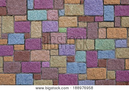 Different Collorful background of brick wall texture