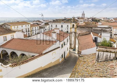 a view over Monforte town, District of Portalegre, Portugal