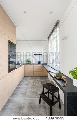 Kitchen With Wooden Furniture
