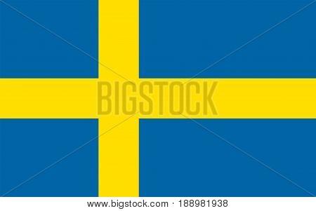 Flag of Sweden, vector illustration official symbol of the state