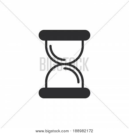 Hourglass sandglass icon vector filled flat sign solid pictogram isolated on white. Symbol logo illustration. Pixel perfect