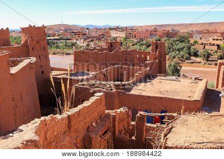 Rooftops  Of Ait Benhaddou, Morocco