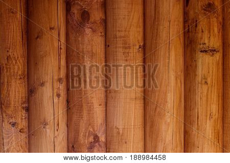 Wooden Wall From Logs As A Background