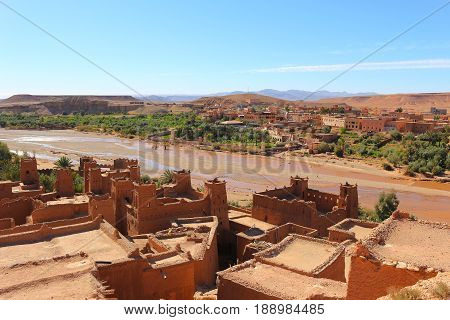 Rooftops And Valley Of Ait Benhaddou, Morocco