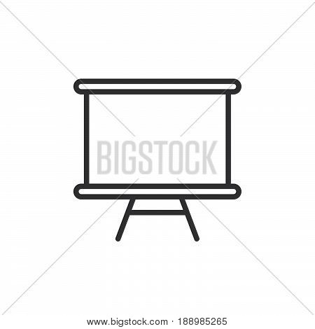 Whiteboard line icon outline vector sign linear style pictogram isolated on white. Dry erase board symbol logo illustration. Editable stroke. Pixel perfect