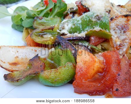 Tortelini With A Grilled Vegetable Salad