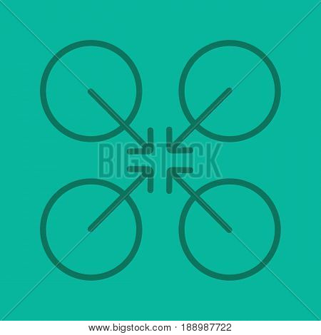 Cooperative symbol color linear icon. Cooperation and teamwork abstract metaphor. Thin line contour symbols on color background. Vector illustration