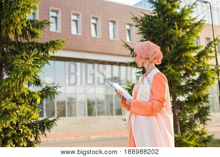Close-up of beautiful female middle eastern college student.