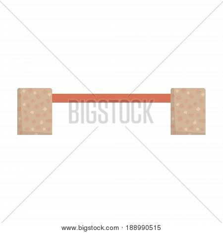 Wooden bench with stone legs vector Illustration isolated on a white background