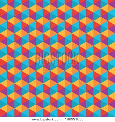 Color polygon vector modern seamless geometry pattern
