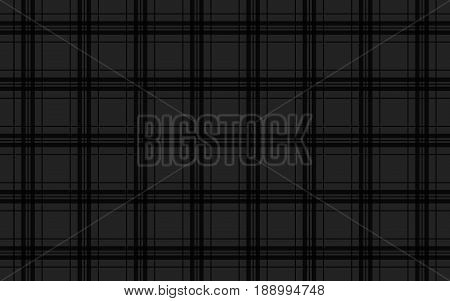 Black abstract background seamless tartan vector pattern