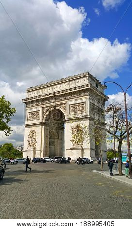 Arc de Triomphe historic monument in Paris France