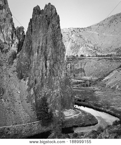Texture and details of some of the incredible geology at Smith Rocks State Park in Central Oregon along with the Crooked River and hiking trails.