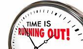 Time is Running Out Clock Deadline Ending Soon 3d Illustration poster
