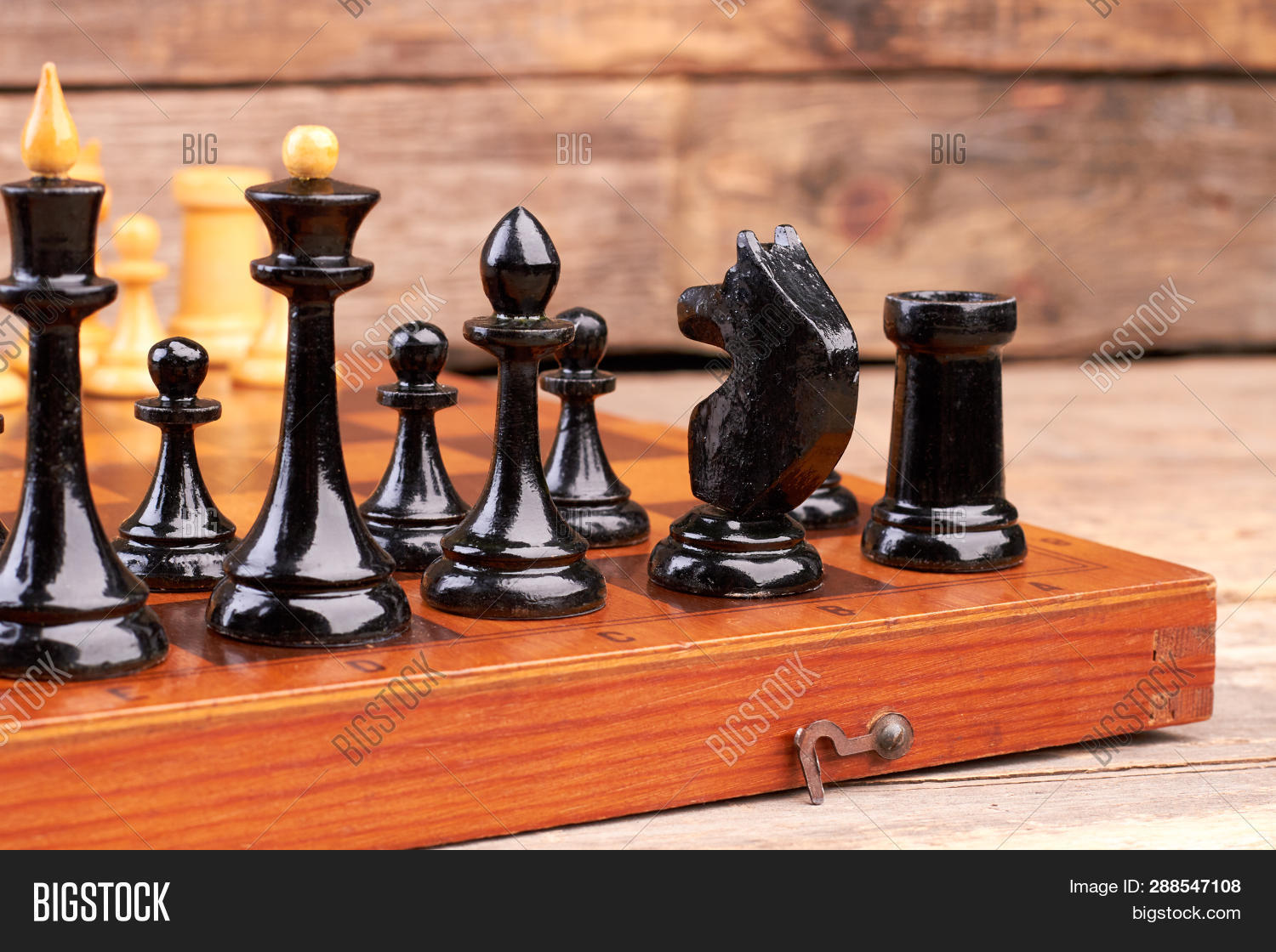 Black Chess Pieces On Image Photo Free Trial Bigstock