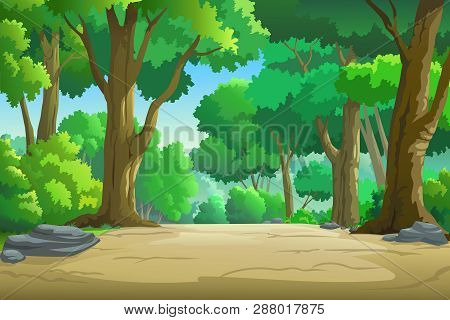 Illustration Of The Forest In The Daytime