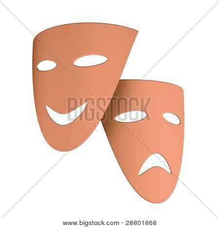 Tragic And Comic Masks