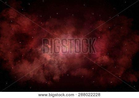 Universe filled with stars, nebula and galaxy - Illustration