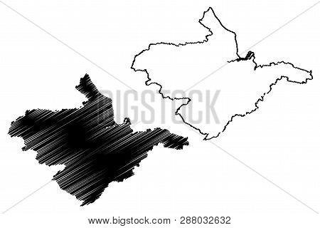 Falkirk Council (united Kingdom, Scotland, Local Government In Scotland) Map Vector Illustration, Sc