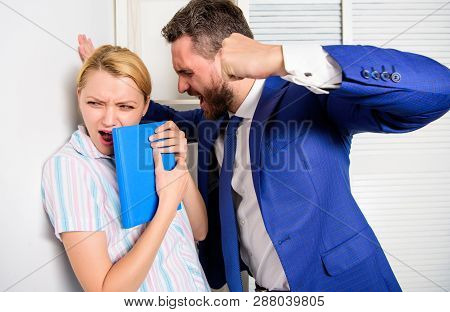 Office Woman And Her Lustful Boss. Workforce Sexual Harassment. Mad At Colleague.