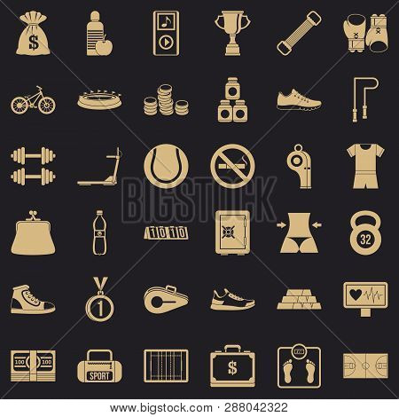 Basketball score icons set. Simple style of 36 basketball score vector icons for web for any design poster