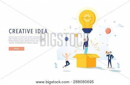 Copywriter Creative Idea Landing Page. Business Creativity Concept For Website Or Web Page. Blog Adv