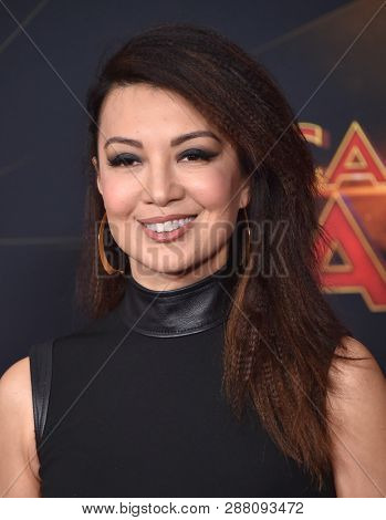 LOS ANGELES - MAR 04:  Ming-Na Wen arrives for the 'Captain Marvel' World Premiere on March 04, 2019 in Hollywood, CA