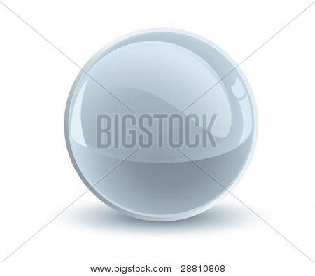 3d vector gray sphere