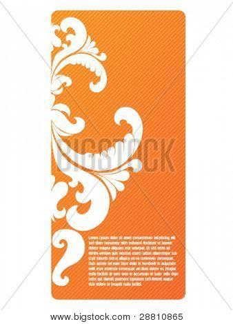 orange autumn banner