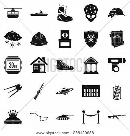 Slam Icons Set. Simple Set Of 25 Slam Icons For Web Isolated On White Background