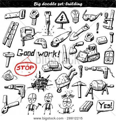 Big doodle set - construction tools