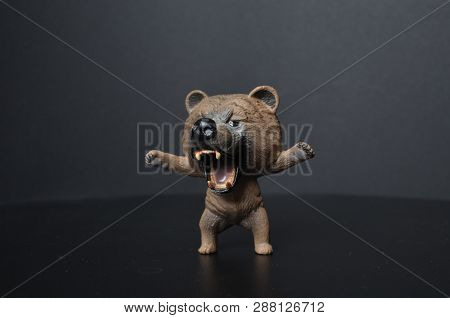 Plastic Bear Toy On Background