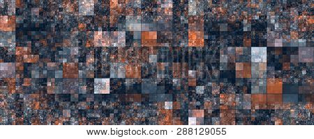 Fantastic Abstract Square Panorama Background Design Illustration