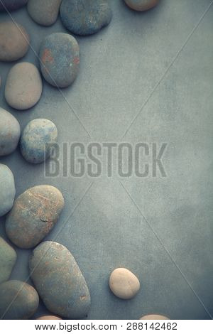 Spa Concept With Basalt Stones Gentle Spa And Wellness Background