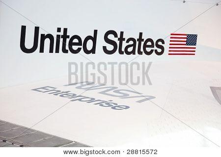 Chantilly, Virginia - 10 oktober: Företaget på National Air And Space Museum på den 10 oktober, 201