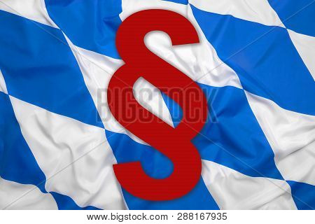 Bavaria Flag With Paragraph Symbol