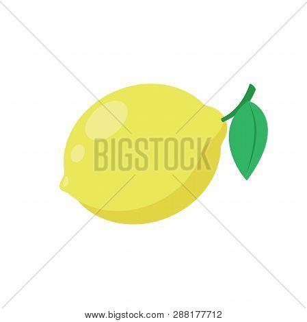 Illustration Of A Lemon On A White Background