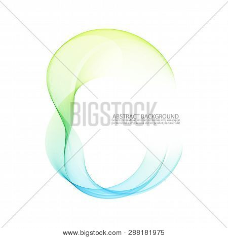 Abstract Blue, Green Swirl Circle Bright Background. Vector Illustration For You Modern Design. Roun
