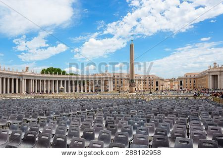 Vatican City, June 17, 2016 - Morning In St. Peters Square