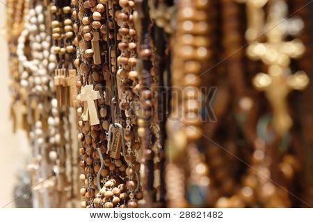 Religious items shop in Nazareth.