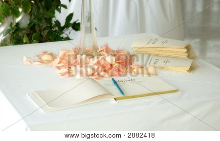 Guest Book And Order Of Service Sheets