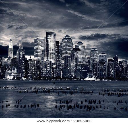 Manhattan Nueva York tomada del lado de jersey - hoboken