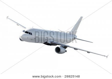 Isolated airplane - clear surface - ready for editing
