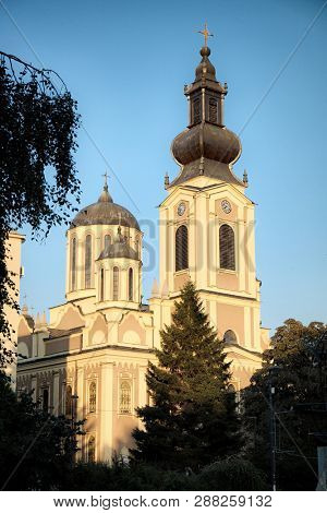 The Cathedral Church of the Nativity of the Theotokos is the Serbian Orthodox cathedral in Sarajevo, Bosnia And Herzegovina.  poster