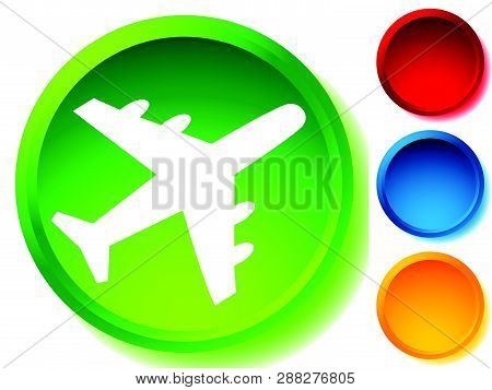 Airplane, Airline, Aircraft Icon. Icon For Flight Themes