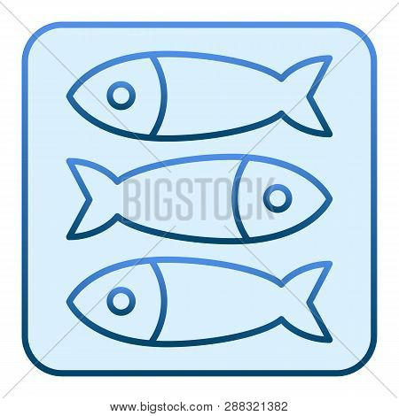Sprat Fish Flat Icon. Seafood Blue Icons In Trendy Flat Style. Food Gradient Style Design, Designed