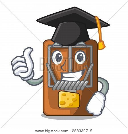 Graduation Mousetrap In The Shape Mascot Wood
