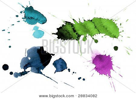 ink splashes