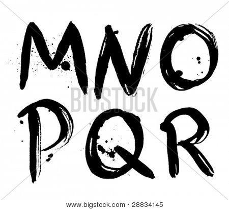 stroke alphabet m-r